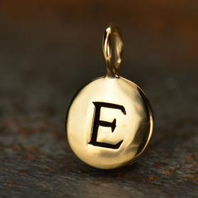Alphabet Charms Letter E - Bronze 13x8mm