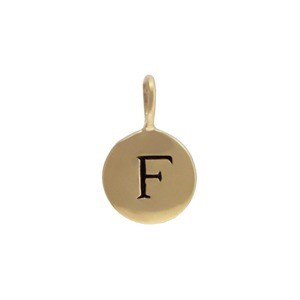 Alphabet Charms Letter F - Bronze 13x8mm