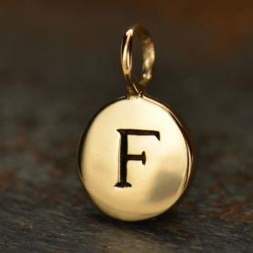 Alphabet Charms Letter F - Bronze 13x8mm