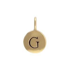 Alphabet Charms Letter G - Bronze 13x8mm