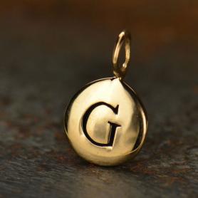 Alphabet Charms Letter G - Bronze