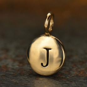 Alphabet Charms Letter J - Bronze