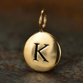 Alphabet Charms Letter K - Bronze