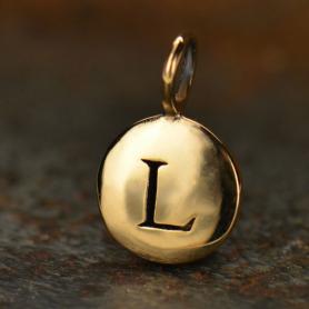Alphabet Charms Letter L - Bronze