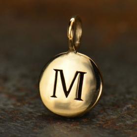 Alphabet Charms Letter M - Bronze