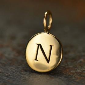 Alphabet Charms Letter N - Bronze