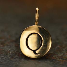 Alphabet Charms Letter Q - Bronze 13x8mm DISCONTINUED