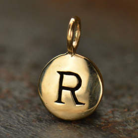 Alphabet Charms Letter R - Bronze 13x8mm DISCONTINUED