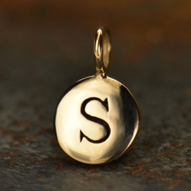 Alphabet Charms Letter S - Bronze 13x8mm DISCONTINUED