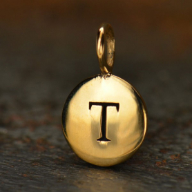 Alphabet Charms Letter T - Bronze 13x8mm DISCONTINUED
