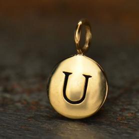 Alphabet Charms Letter U - Bronze 13x8mm DISCONTINUED