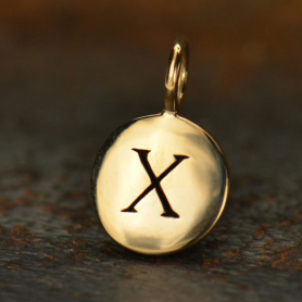 Alphabet Charms Letter X - Bronze 13x8mm DISCONTINUED