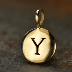 Alphabet Charms Letter Y - Bronze 13x8mm DISCONTINUED