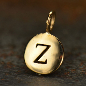 Alphabet Charms Letter Z - Bronze 13x8mm DISCONTINUED