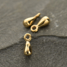 Small Teardrop Dangle Charm - Bronze