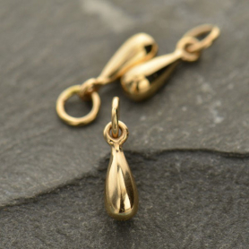 Medium Teardrop Dangle Charm - Bronze