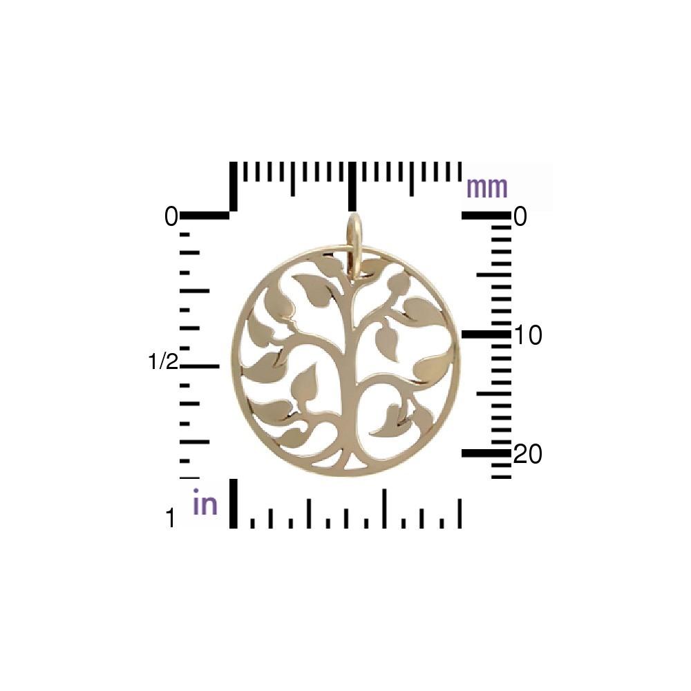 Medium Tree of Life Jewelry Charm - Bronze 24x20mm