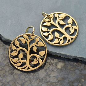 Medium Tree of Life Jewelry Charm - Bronze