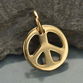 Small Peace Jewelry Charm - Bronze 12x9mm