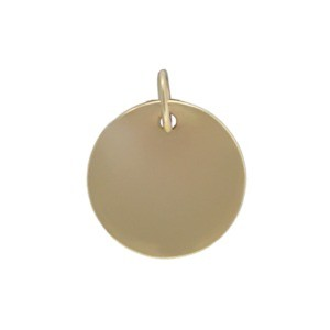 Large Round Stamping Blank - Bronze 15x12mm