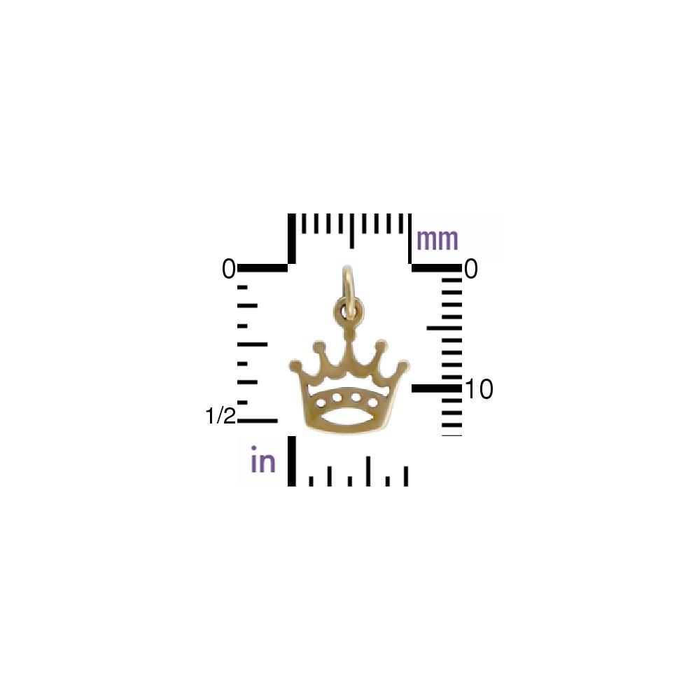 Crown Jewelry Charm - Bronze