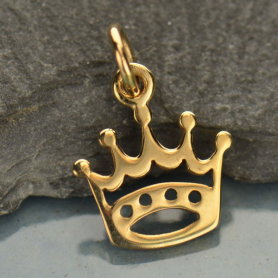 Crown Jewelry Charm - Bronze 16x11mm