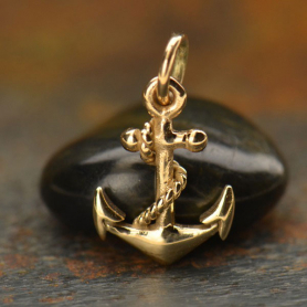Anchor Jewelry Charm - Bronze 16x9mm