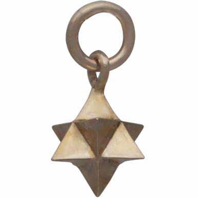Small Merkaba Charm - Bronze Sacred Geometry Charm