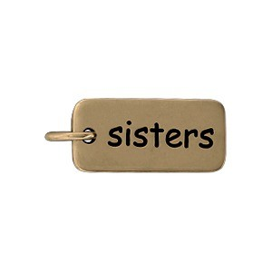 Sisters Word Jewelry Charm - Bronze