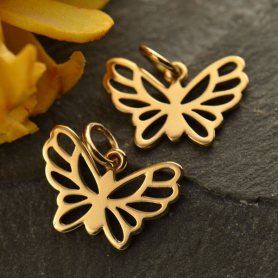 Small Butterfly Bronze Jewelry Charm DISCONTINUED
