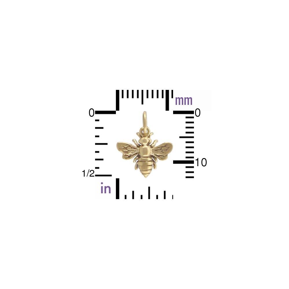 Small Bee Jewelry Charm - Bronze 14x12mm
