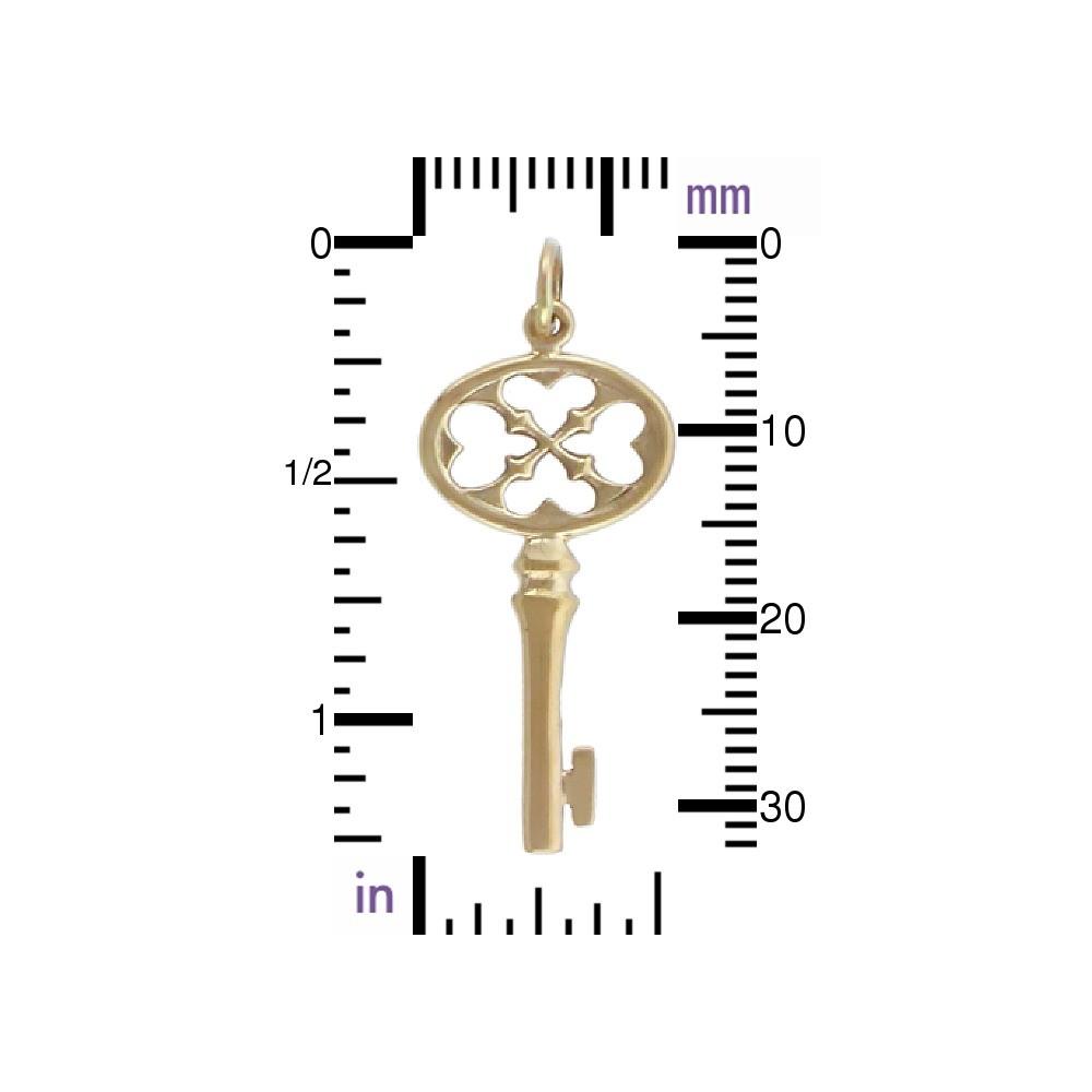 Key Bronze Jewelry Charm DISCONTINUED