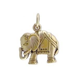 Elephant Bronze Jewelry Charm 17x13mm