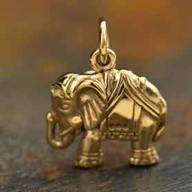 Elephant Bronze Jewelry Charm