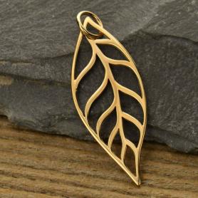 Leaf Bronze Jewelry Pendant DISCONTINUED
