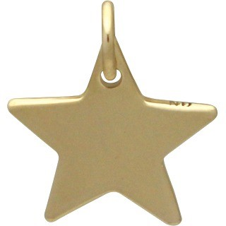 Bronze Large Star Charm 14x12mm