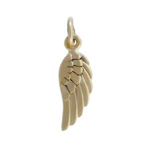 Bronze Angel Wing Charm Right Side 20x5mm