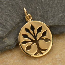 Tree Jewelry Charm - Bronze