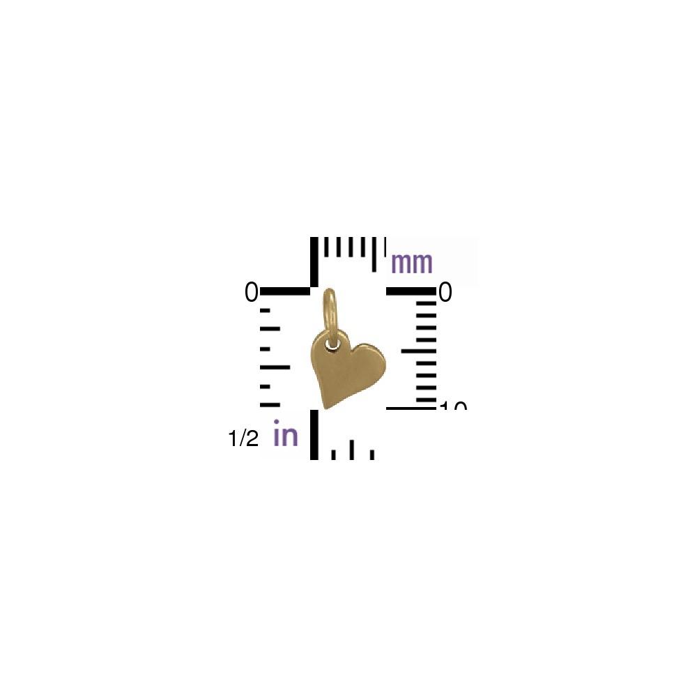 Small Heart Jewelry Charm - Bronze 10x7mm