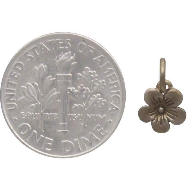Bronze Cherry Blossom Charm 11x7mm