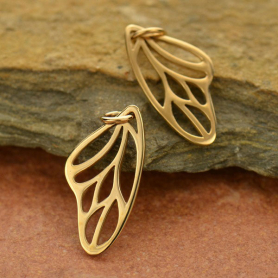 Small Butterfly Wing Charm - Bronze