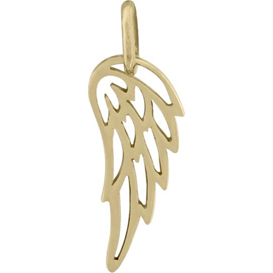 Tiny Wing Charm - Bronze 18x6mm