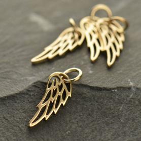 Tiny Wing Charm - Bronze