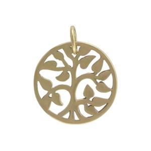 Small Tree of Life Charm - Bronze 17x13mm