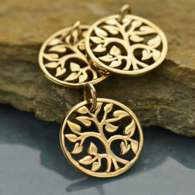 Small Tree of Life Charm - Bronze