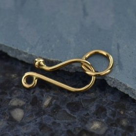 Natural Bronze Simple Hook & Eye Clasp