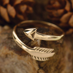 Adjustable Ring with Arrow - Bronze