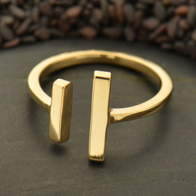 Adjustable Bar Ring - Bronze