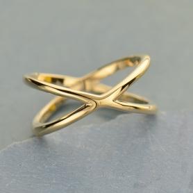 Natural Bronze Ring - Crisscross Ring