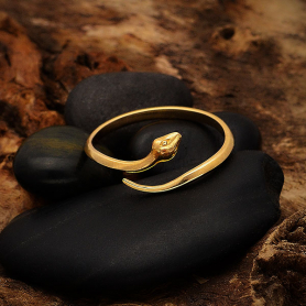 Bronze Simple Adjustable Snake Ring